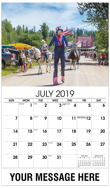 2019 Business Advertising Calendar - Polebridge - July