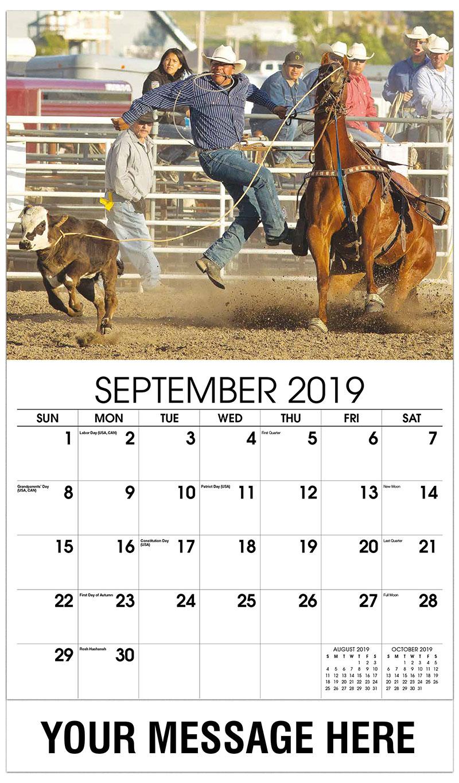 2019 Business Advertising Calendar - Rodeo - September
