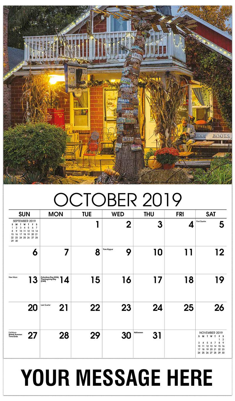 2019 Business Advertising Calendar - Boots Café - October