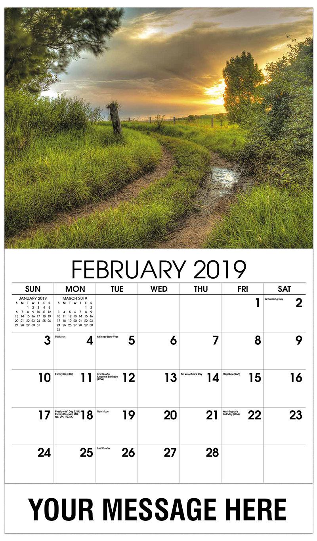 2019 Promotional Calendar - Dirt Road - February
