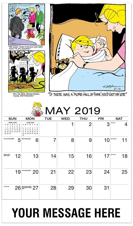 2019 Promotional Calendar - Dennis the Menace Comics - May