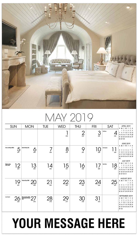 May Calendar Decorations : Interior design promotional calendar ¢ business