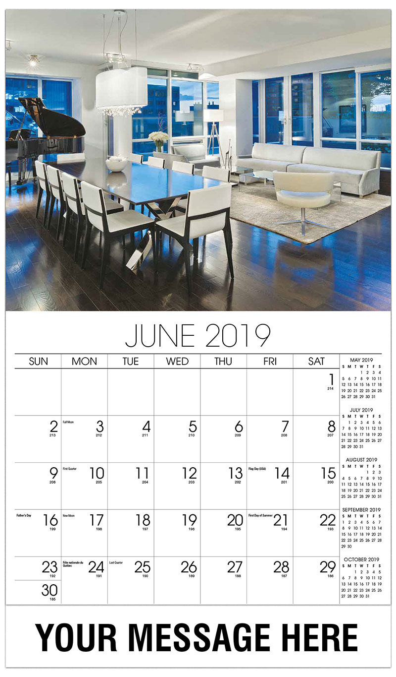 2019 Promo Calendar - Dining Room with Piano - June
