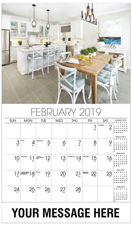 Kitchen Calendar Design : Interior design promotional calendar ¢ business