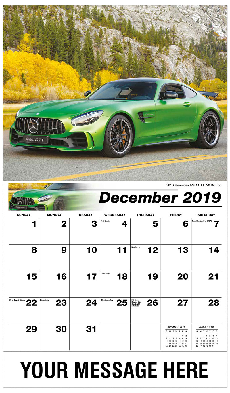 2019 Advertising Calendar - 2018 Mercedes Amg GT R V8 Biturbo - December_2019