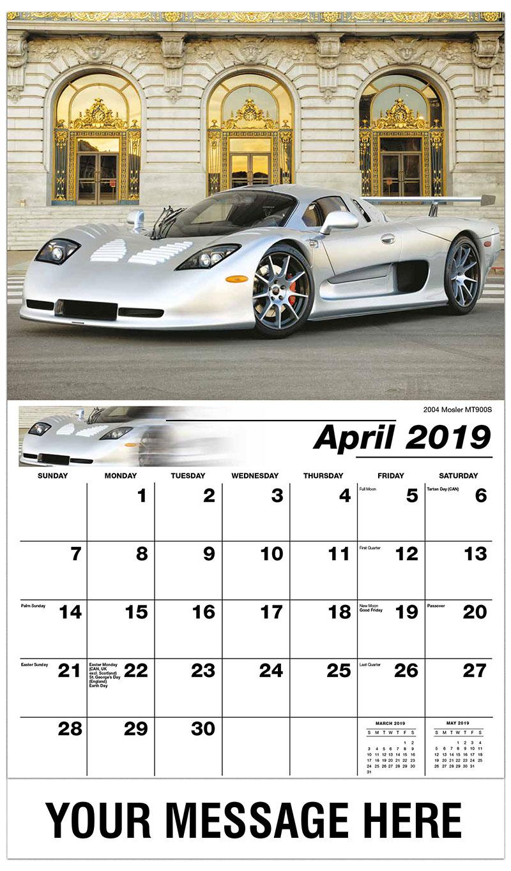 2019 Promo Calendar - 2004 Mosler MT900S - April
