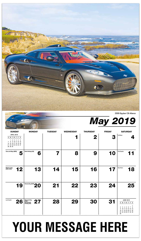 2019 Promo Calendar - 2009 Spyker C8 Aileron - May