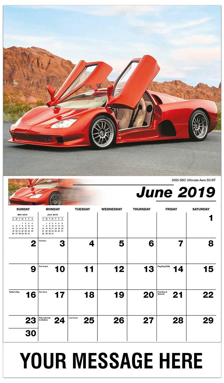 2019 Promo Calendar - 2005 SSC Ultimate Aero SC/8T - June