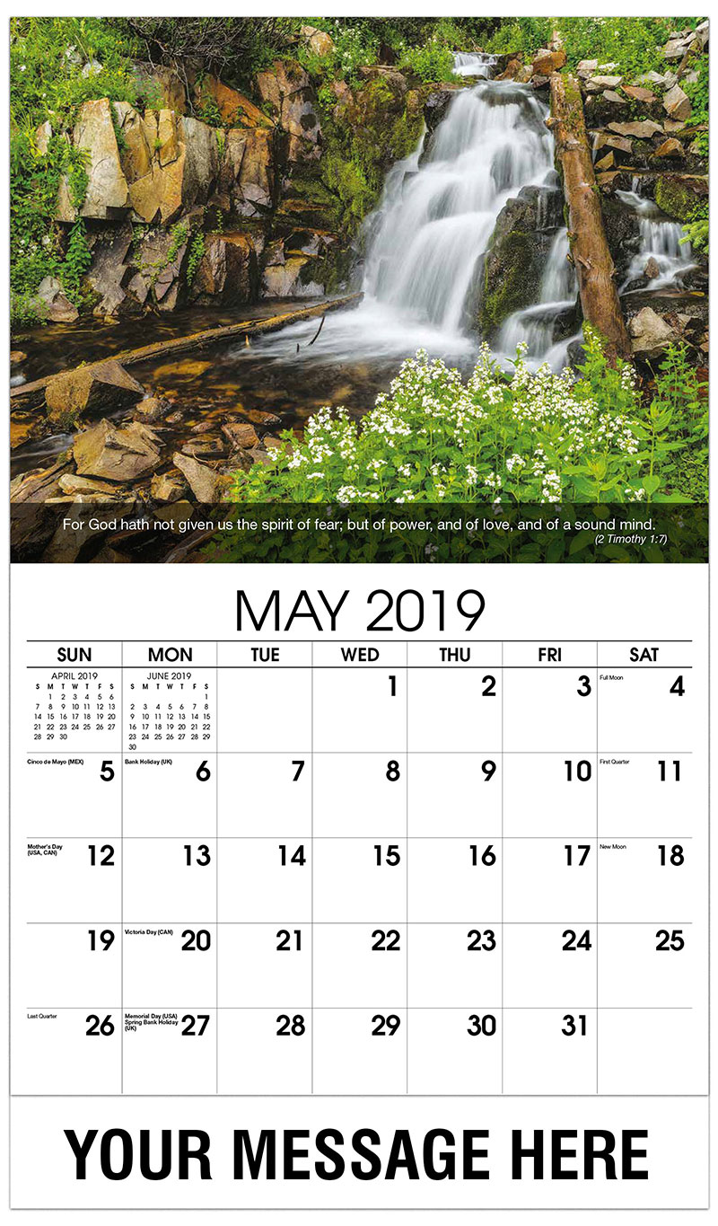 2019 Promotional Calendar - Waterfall - May