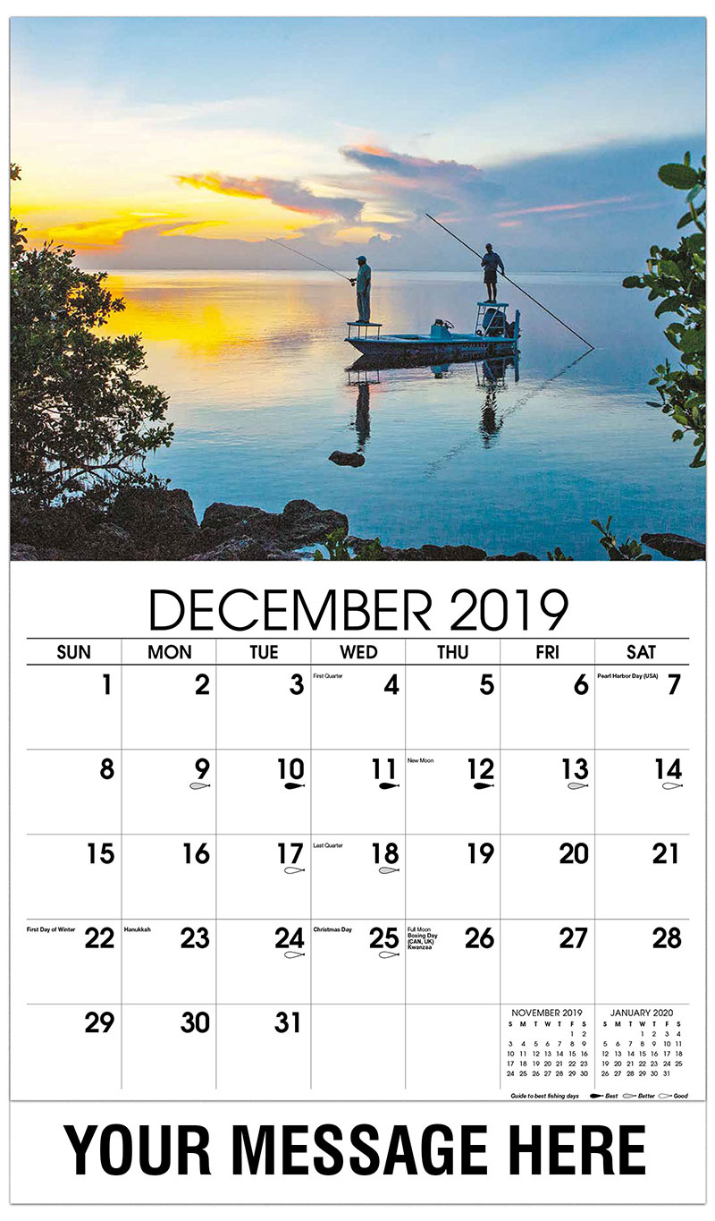 2019 Advertising Calendar - Fisherman on Boat - December_2019