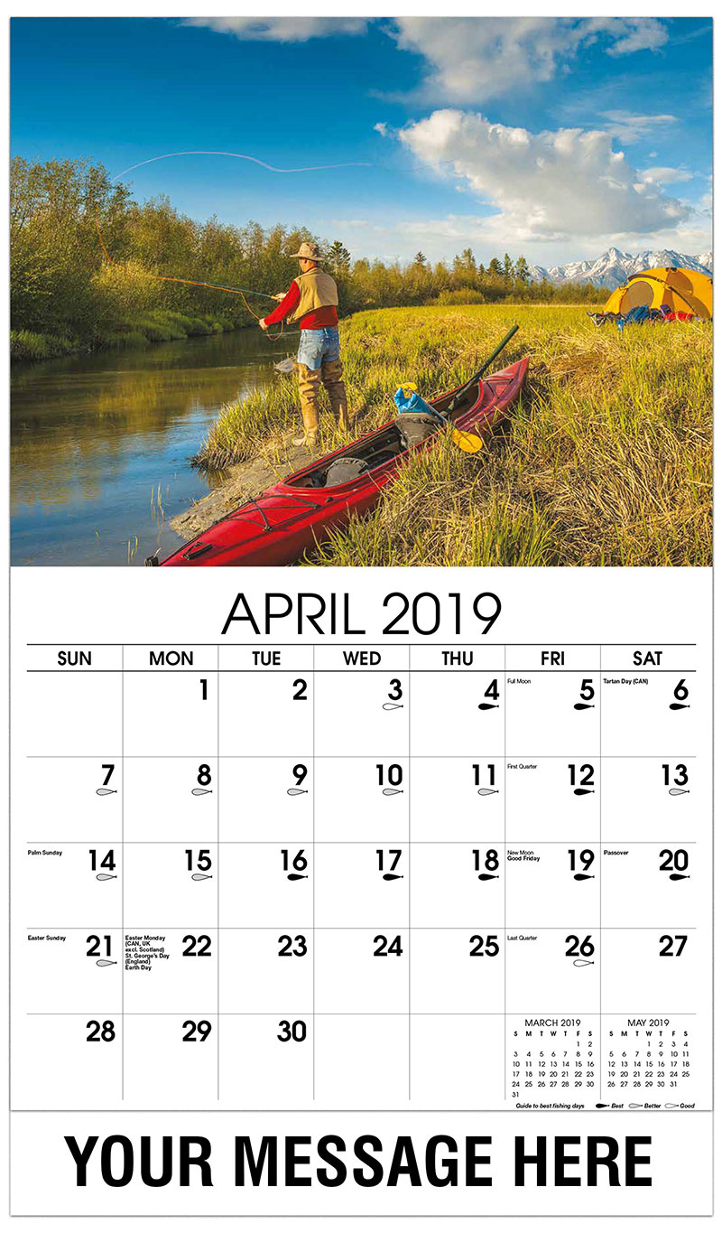 2019 Promo Calendar - Fisherman Camping - April