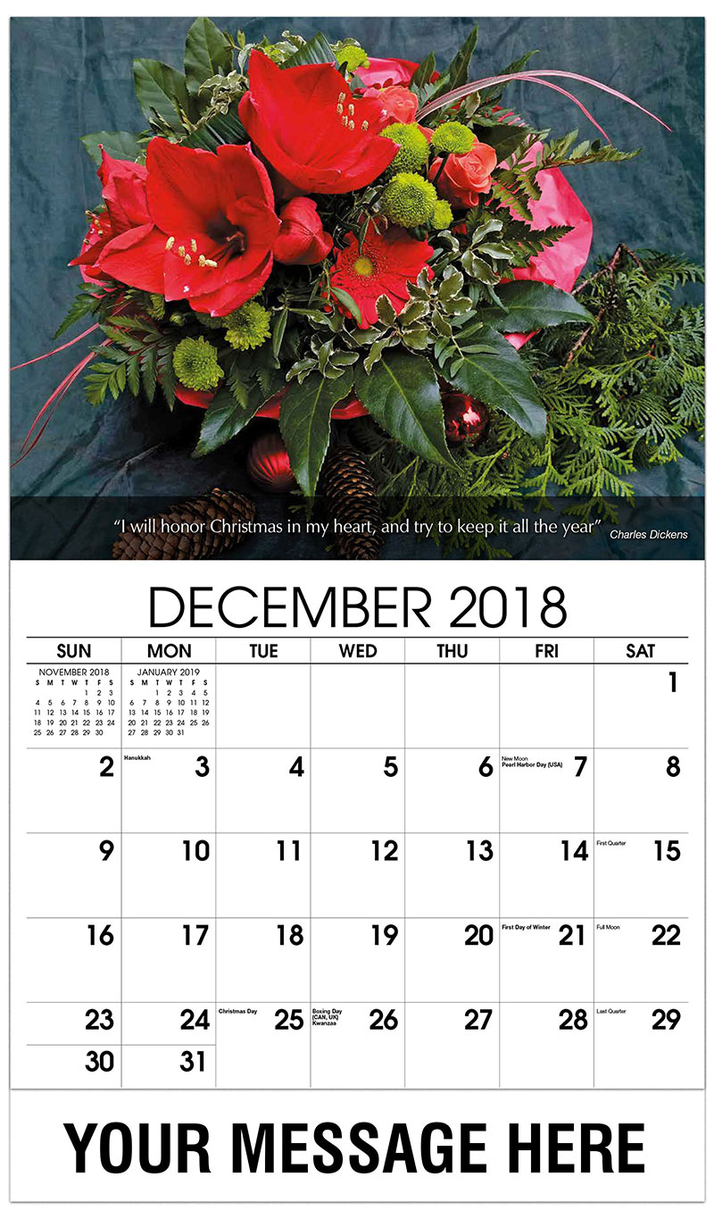 2019 Promo Calendar - Red Christmas Arrangement - December_2018