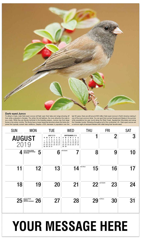 Calendar Spot May : Garden song birds promotional calendar ¢ business