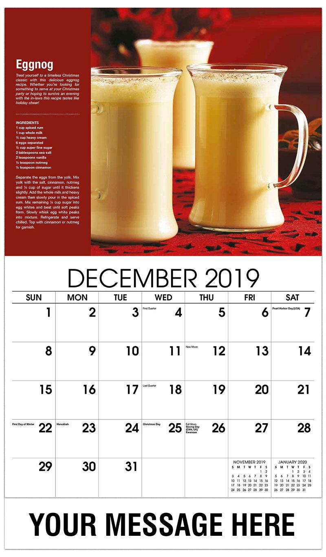2019 Advertising Calendar - Eggnog - December_2019