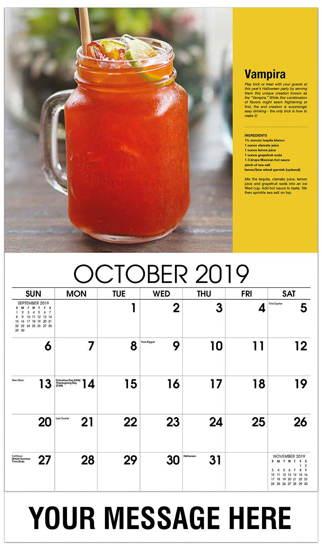 2019 Business Advertising Calendar - Vampira - October