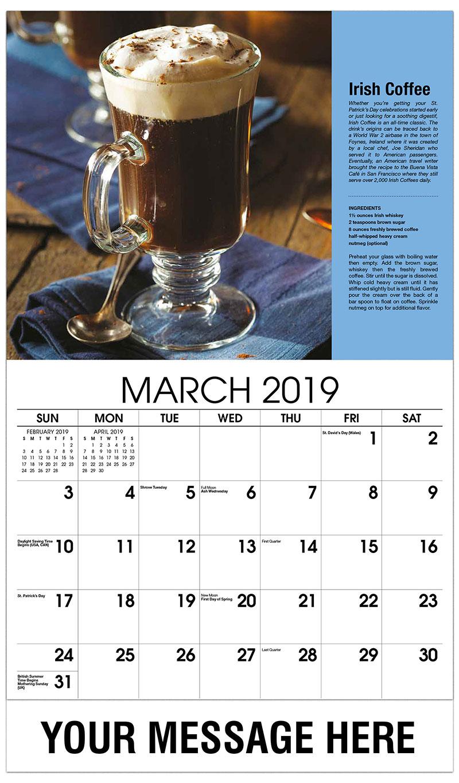2019 Promo Calendar - Irish Coffee - March