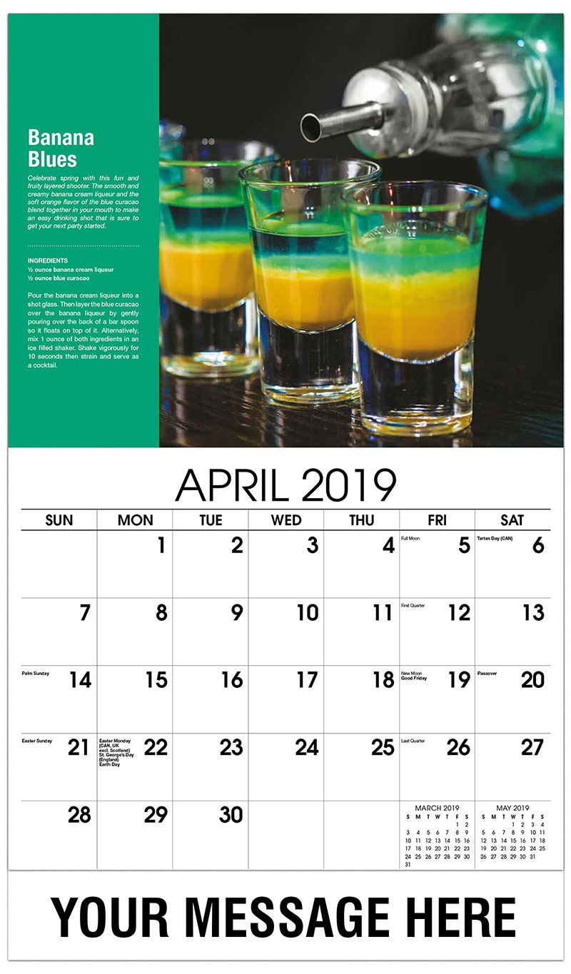 cocktail and drink recipes calendar