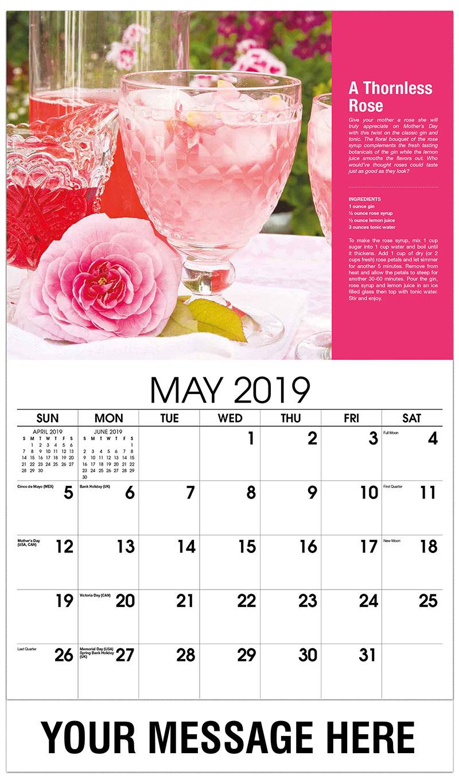 2019 Promo Calendar - A Thornless Rose - May