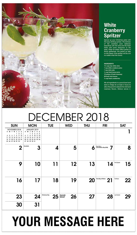 2019 Promotional Calendar - White Cranberry Spritzer - December_2018