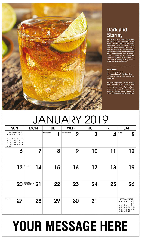 2019 Promotional Calendar - Dark And Stormy - January