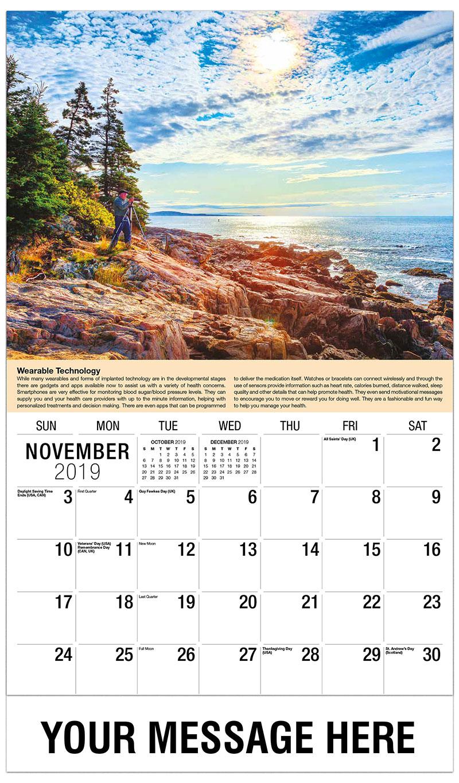 2019 Advertising Calendar - Photographer - November