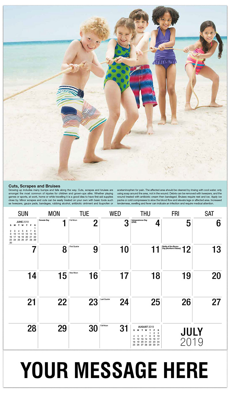 health and wellness tips promotional calendar