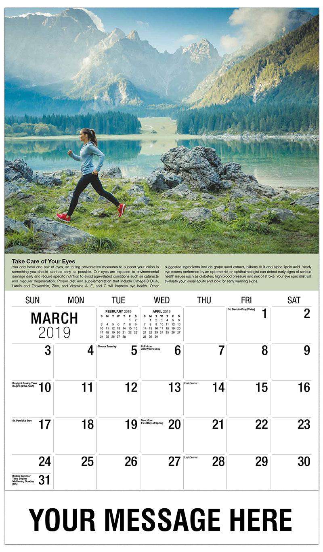 2019 Promo Calendar - Woman Jogger - March