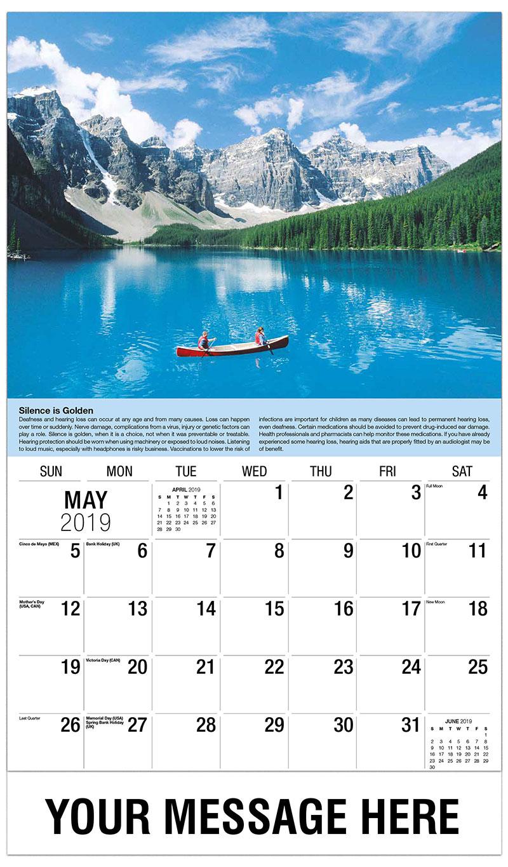 2019 Promo Calendar - Canoe - May