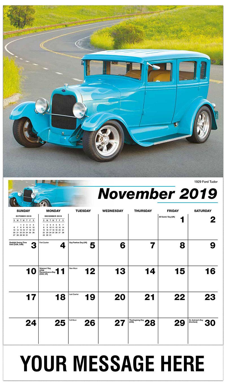 2019 Advertising Calendar - 1929 Ford Tudor - November