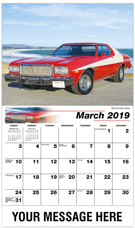 2019 Promo Calendar - 1974 Ford Gran Torino - March