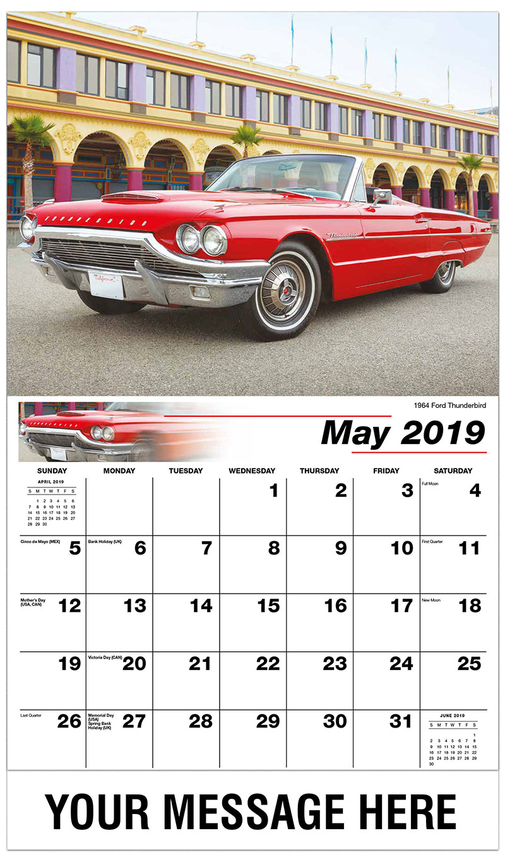 2019 Promo Calendar - 1964 Ford Thunderbird - May