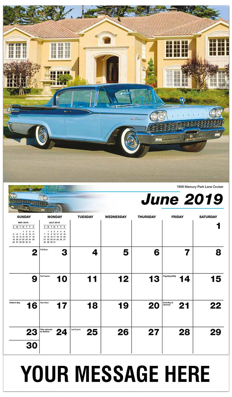 2019 Promo Calendar - 1959 Mercury Park Lane Cruiser - June