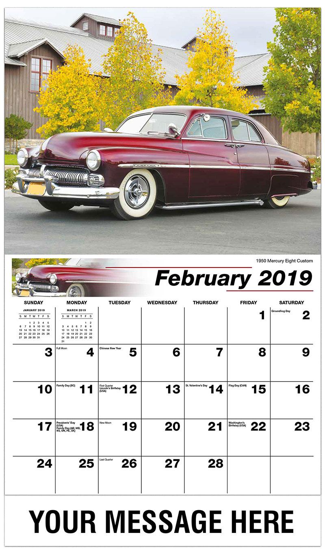 2019 Promotional Calendar - 1950 Mercury Eight Custom - February