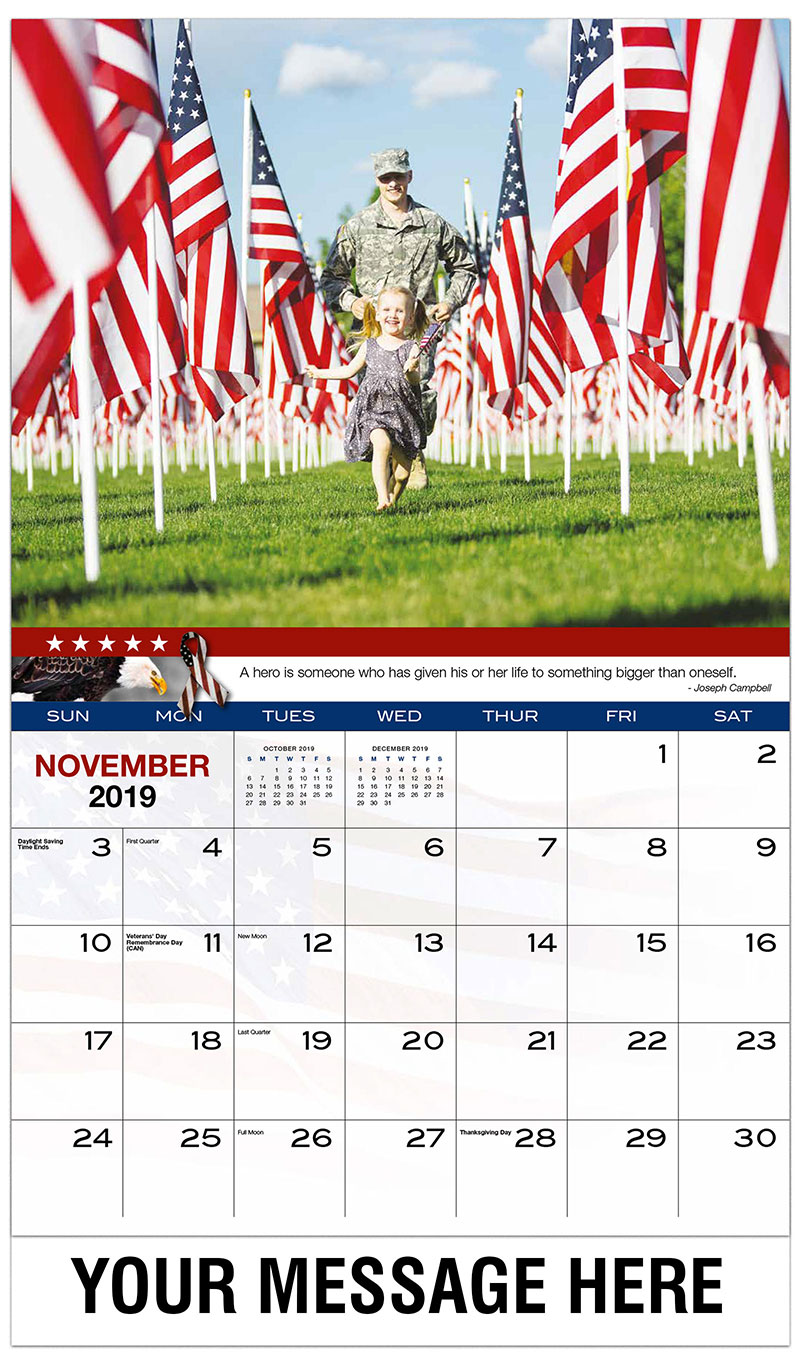 2019 Promo Calendar - American Toddler Playing with Her Father - November