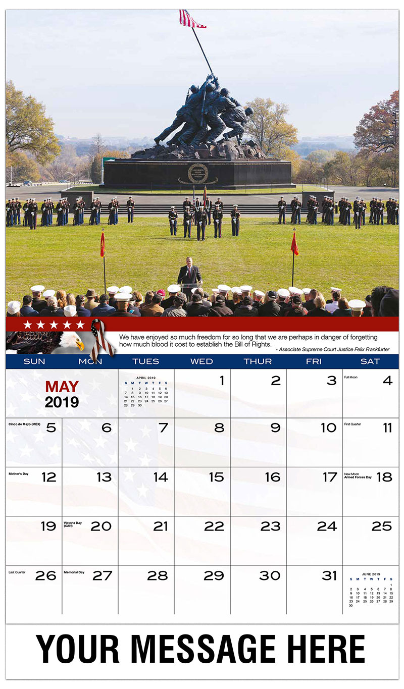 2019 Promotional Calendar - Veterans Day Celebrations - May