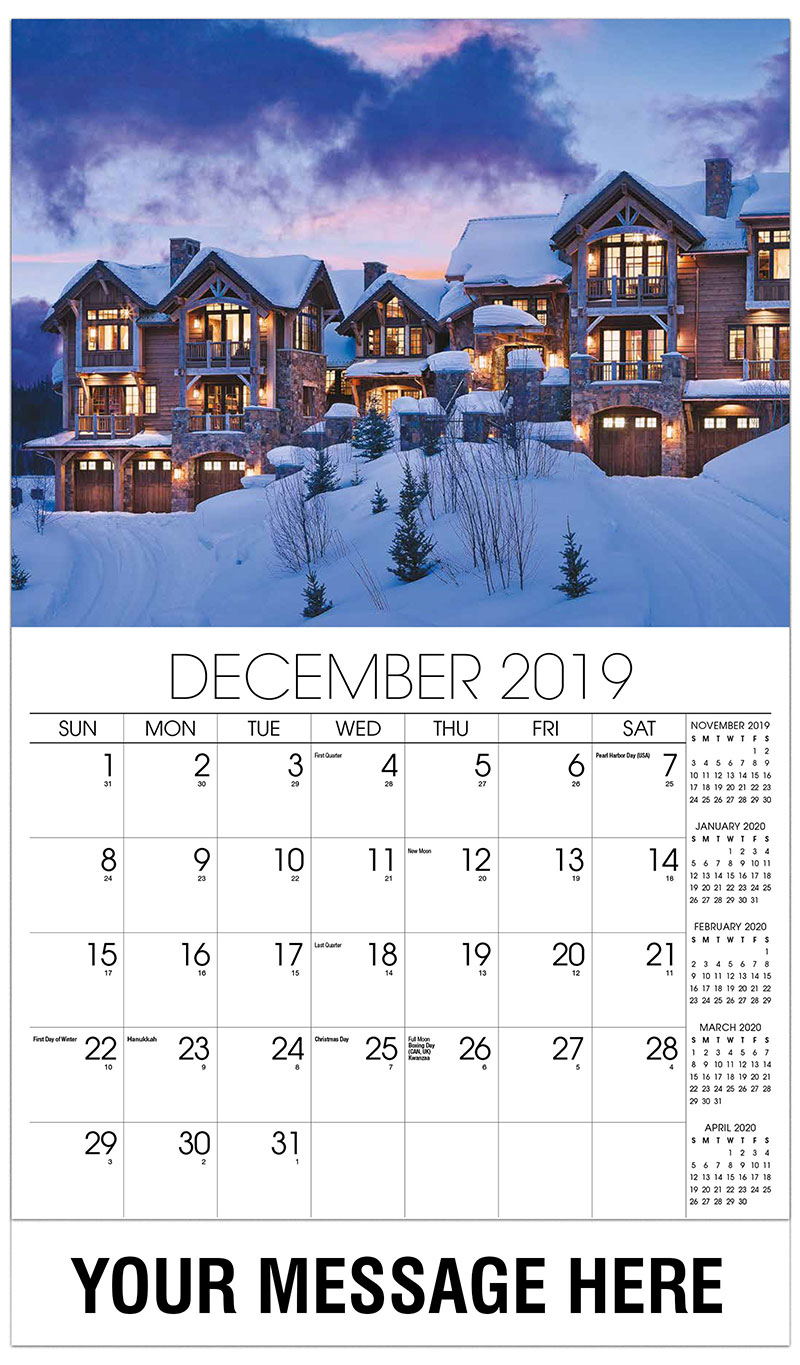 2019 Promo Calendar - Mansion Covered In Snow - December_2019