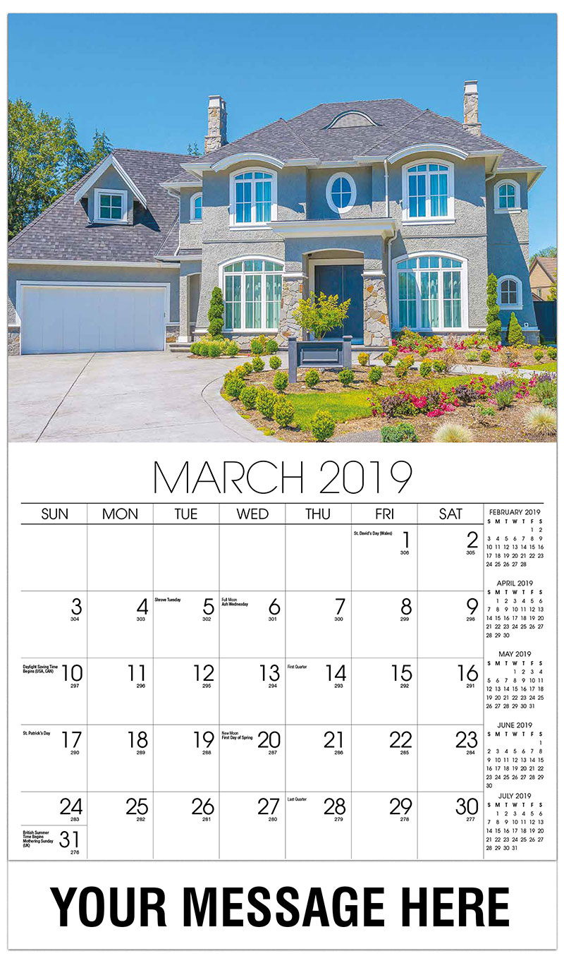 2019 Promotional Calendar - Log Home - March