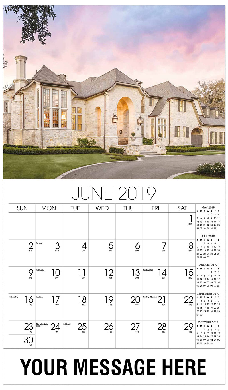 2019 Promotional Calendar - Contemporary Home In The Summer - June