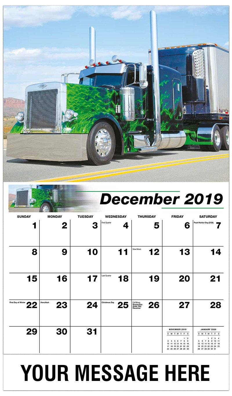2019 Advertising Calendar - 2003 Peterbilt 379 - December_2019