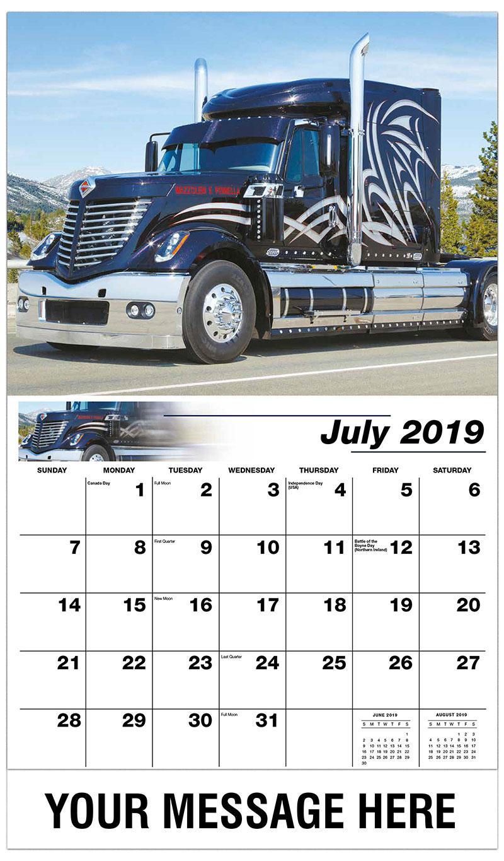 2019 Business Advertising Calendar - 2010 International Lonestar - July