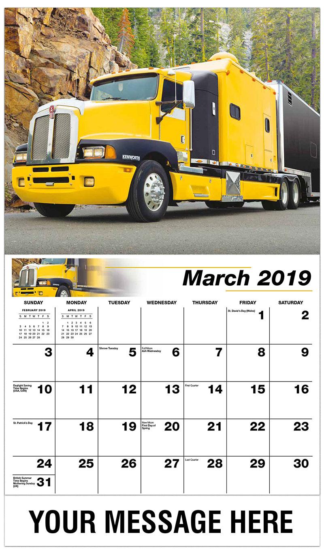 2019 Promo Calendar - 2001 Kenworth T600 - March