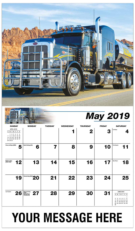 2019 Promo Calendar - 2014 Peterbilt 389 - May