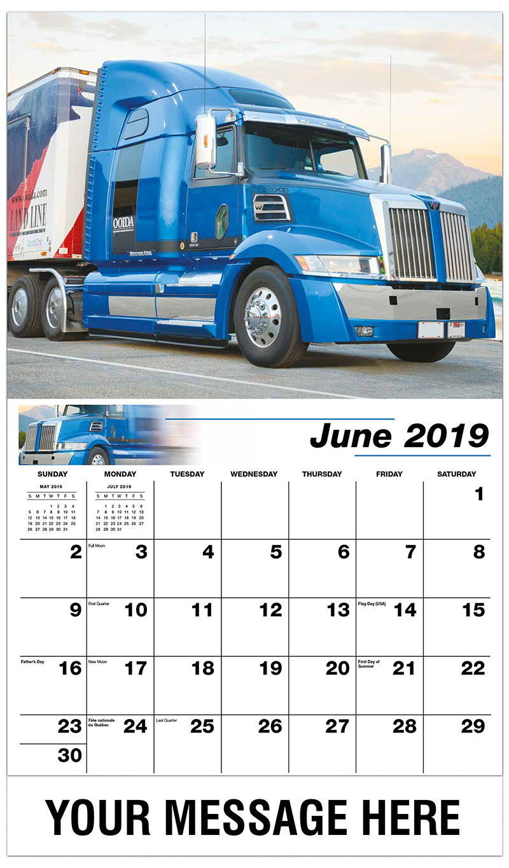 2019 Promo Calendar - 2017 Western Star 5700XE - June