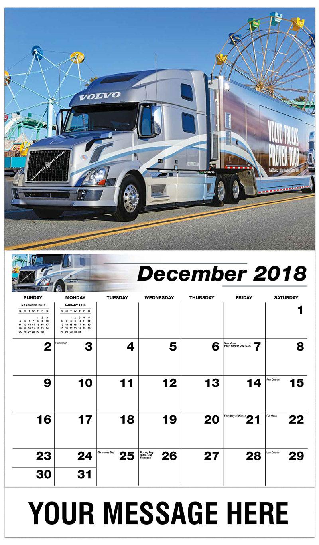 2019 Promotional Calendar - 2010 Volvo - December_2018