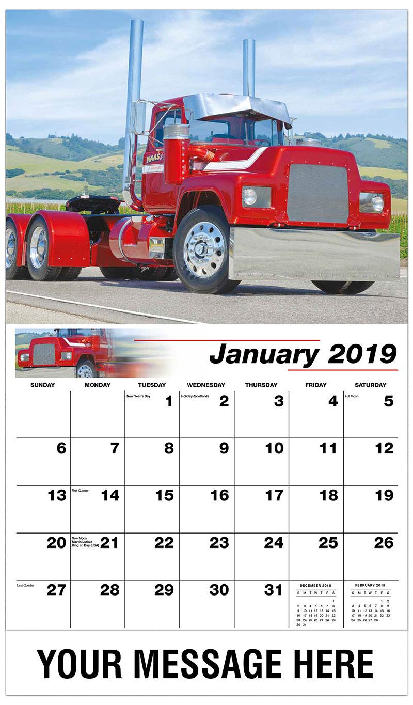 2019 Promotional Calendar - 1991 Mack RD686 - January