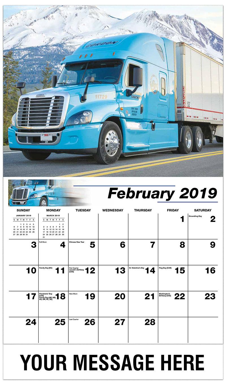 2019 Promotional Calendar - 2011 International Lonestar - February