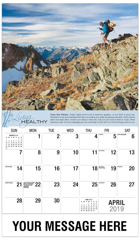 2019 Promo Calendar - Man Hiking - April