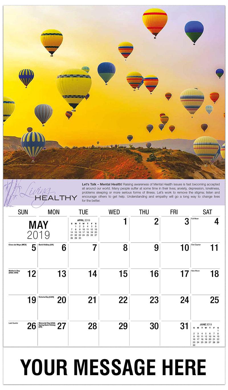 2019 Promo Calendar - Hot Air Balloons - May