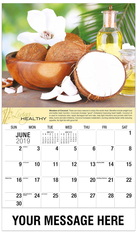 2019 Promo Calendar - Coconut - June