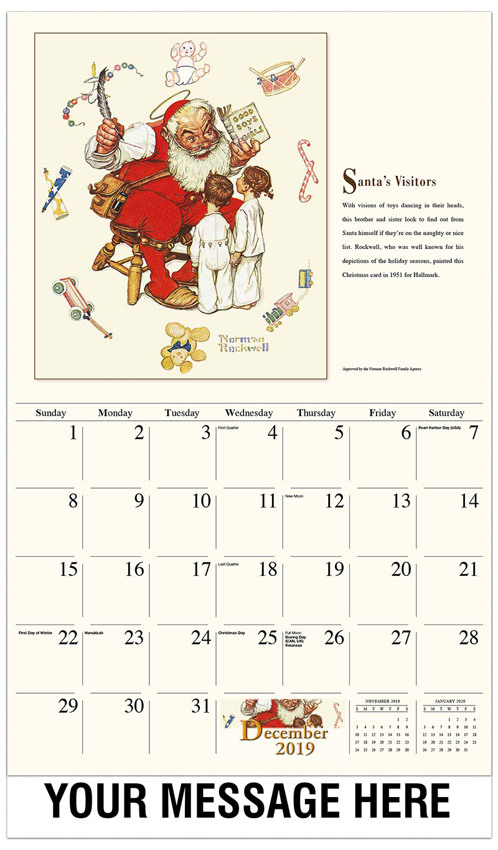2019 Advertising Calendar - Santa's Visitors - December_2019